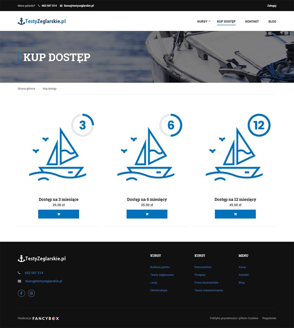Testy żeglarskie