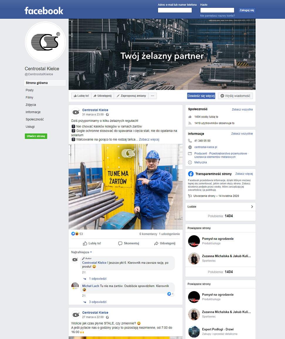 Centrostal – Facebook